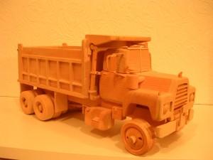 wooden Mack dump truck